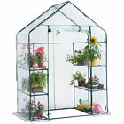 Heritage Garden PVC Greenhouse Walk In & 4-Tier Plant Shelter Grow House Outdoor <br/> Both Come With Reinforced PVC Cover For Year Round Use