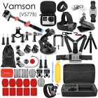 Vamson for Gopro Accessories Set for go pro hero 7 6 5 4 3 kit 3 way selfie stic