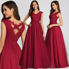 Ever Pretty Elegant Long Lace Bridesmaid Prom V-Neck A-Line Evening Dresses 7799