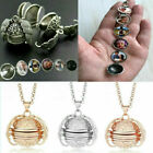 Expanding 4-5 Photo Locket Necklace Pendant Angel Wings Gift Jewelry Decoration