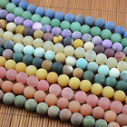 Wholesale Lot Frosted Matte Gemstones Round Loose Beads  4mm 6mm 8mm 10mm Pick