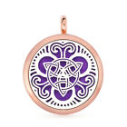 30mm Alloy Necklace Pendant Rose Gold Aromatherapy Essential Oil Diffuser Locket