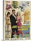 """""""From Russia with Love - Vintage Movie Poster"""" Canvas Art Print $255.07 CAD on eBay"""