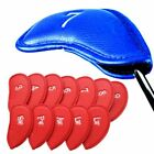 12 Packs Golf Iron Head Covers PU Leather Velco Club Headcover Protect Set Ping