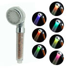 7 Colors  Blocking UV Big Rain Shower Head Anion Handheld Water - Saving