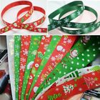 1Yards 10/25mm Christmas Ribbon Grosgrain Ribbon Hair Bow Christmas Decoration