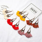 Large Bohemian Tassel Earrings Women Handmade Fringe Earrings Statement Jewelry