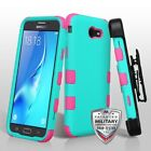 For Samsung Galaxy J7/Halo TUFF Hybrid Phone Protector Case Cover w/Holster