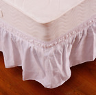 """Super Nice Smooth Twin Full Size Around Bed 14"""" Elastic Wrap Ruffle Bed Skirt image"""