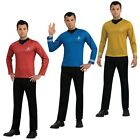 Starfleet Uniform Adult Star Trek Costume Officer Shirt Fancy Dress on eBay