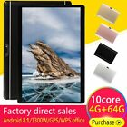 10.1'' 64GB Android 8.1 Tablet PC Octa Core 10 Inch HD WIFI 2 SIM 4G Phablet New