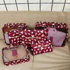 6 Pieces Set Luggage Organiser Suitcase Storage Bags Packing Travel Cubes