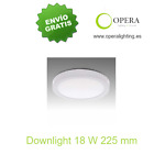 Plafon de superficie tipo downlight LED 18w 225mm blanco redondo