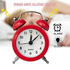 Classic Portable Retro Alarm Clock TwinBell RoundNumber Table Desk LED Clock