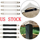 "4 Mattress Sheet Clips Grippers Straps Suspender Bed Sofa Fasteners Holder 8-22"" image"