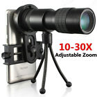 10-30x Zoom Telephoto Telescope Monocular Camera Lens Tripod Cell Phone Clip