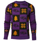 Baltimore Ravens NFL Repeat Patches Holiday Sweater $59.95 USD on eBay