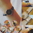 Womens Ladies Leather Casual Watch Small Dial Delicate Quartz Wrist Watches ST image