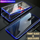 360° Full Protect Magnetic Metal Frame + Tempered Glass Slim Phone Case Cover
