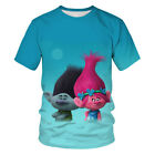 Popular Vogue New Women Men T-Shirt 3D Print Cartoon Trolls Short Sleeve Tee Top image