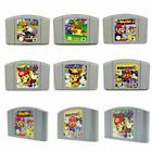 Mario Kart 64/mario Party 2 3 /super Smash Bros Game Cartridges For Nintendo N64