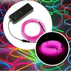 1M Battery Operated Luminescent Neon LED Lights Glow EL Wire String Strip Rope