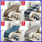 """Life Comfort Ultimate Sherpa Throw, Soft & Plush Blanket, 60""""W x 70""""L - 2 Pack image"""