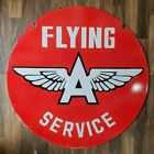 FLYING A SERVICE 2 SIDED VINTAGE PORCELAIN SIGN 30 INCHES ROUND