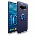 For Samsung Galaxy S10 S9 S8 S7 Hybrid Magnetic Ring Holder TPU+Metal Case Cover