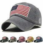 Baseball Cap Mens Tactical Army Cotton Military Dad Hat Usa American Flag Us An