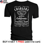 Los Angeles Chargers T-Shirt JD Whiskey Graphic LA Men Cotton Whisky San Diego $13.01 USD on eBay