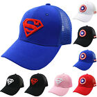 Boys Kids Mesh Snapback Baseball Cap Outdoor Sports Hip Hop Casual Sun Visor Hat