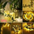 5m Leaves Ivy Leaf Garland 50led Fairy String Lights Home Wedding Party Decor