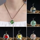 Fashion Wishing Real Dried Flower Round Glass Pendant Necklace Jewelry Women Hot