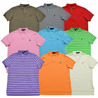 Polo Ralph Lauren Mens Interlock Polo Shirt Collar Top Custom Fit Pony Log New