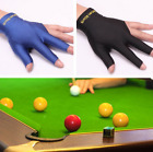 Spandex Snooker Pool Billiard Cue Glove Left Hand 3 Finger Accessory Blue Black £4.76 GBP on eBay