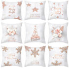 """18x18"""" Christmas Pillow Case Rose Gold Cushion Cover  Home Decoration Covers"""