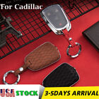 Suede Leather Remote Key Case Cover Shell Cover For Cadillac Escalade XT5 CTS