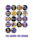 "Minnesota Vikings Button Badge Pin Back Flat Back Pinback Flatback Magnet 1.25"" $1.0 USD on eBay"