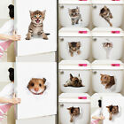 3d Cat Dog Wall Sticker Bathroom Bedroom Animal Decals Toilet Home Decoration