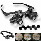 Lens Magnifier Magnifying Eye Glass Loupe Jeweler Watch Repair with LED Light