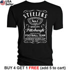 Pittsburgh Steelers T-Shirt JD Whiskey Graphic PIT Men Cotton Whisky