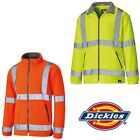 Dickies Hi Vis Fleece Jacket Mens Lightweight Lined Durable Work Winter SA22032