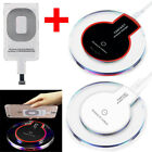 Qi Wireless Fast Charger Charging Pad + Receiver For iPhone 5/6/7 6s Plus 7Plus