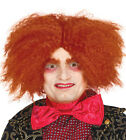 Mad Hatter Wig Orange Ginger Alice in Wonderland Fancy Dress Costume Hair NEW