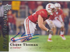 2013 Upper Deck Football Star Rookies Auto Chase Thomas #106