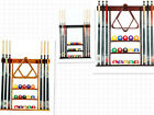 Cue Rack Only -6 Pool Cue -Billiard Stick Wall Rack Made of Wood Choose Mahogany $50.9 USD on eBay