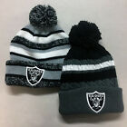 Oakland Raiders Pom Pom Beanie Skull Cap Hat Embroidered Las Vegas $10.75 USD on eBay