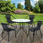 Grey Wicker Bistro Sets Outdoor Garden Furniture Table Rattan Chairs Seats Patio