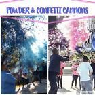 2 Gender Reveal Smoke MIX Powder + Confetti Cannons   [Choose Color] Pink  Blue